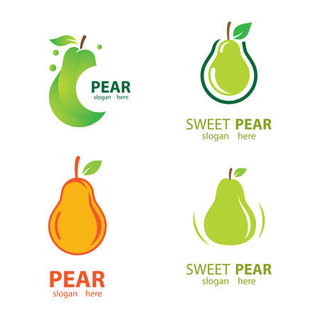 Pear logo images illustration design 向量圖像
