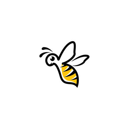 Bee logo images illustration design 版權商用圖片 - 161377671