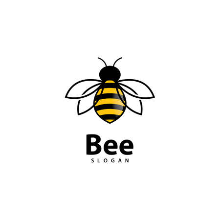 Bee logo images illustration design 版權商用圖片 - 161377676