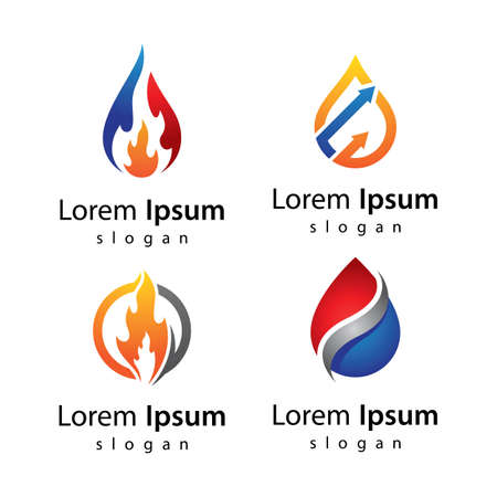 Oil and gas logo images  illustration design
