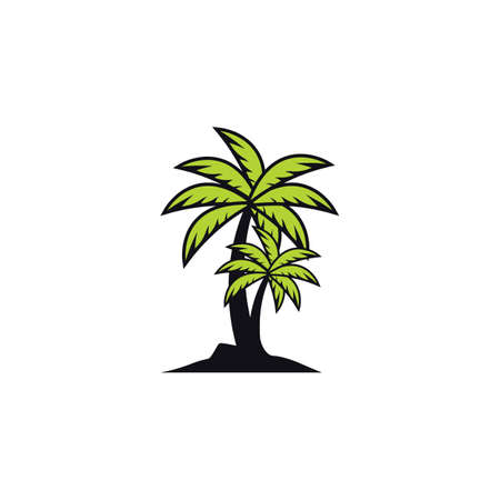 Palm tree summer logo images illustration design