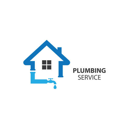 Plumbing service logo images illustration design
