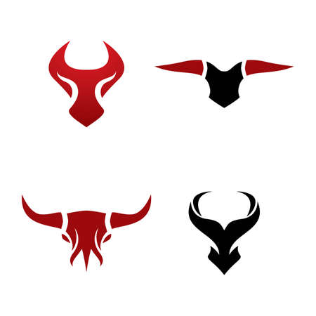 Bull head logo images illustration design
