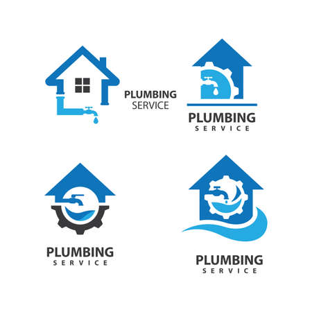 Plumbing logo images illustration design