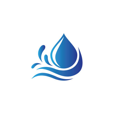 Water drop logo images illustration design