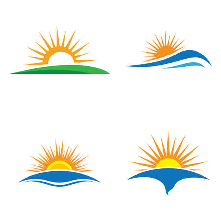 Sunset logo images illustration design