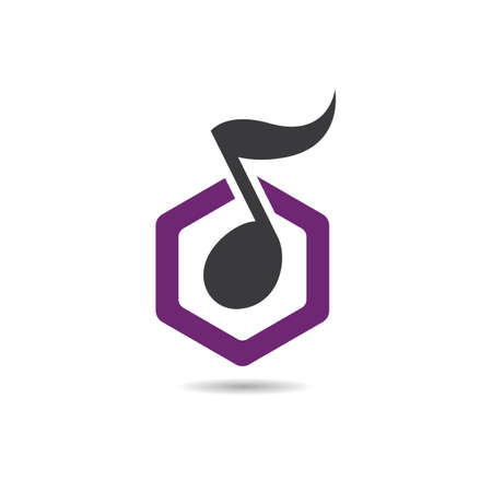 Music logo images illustration design 向量圖像