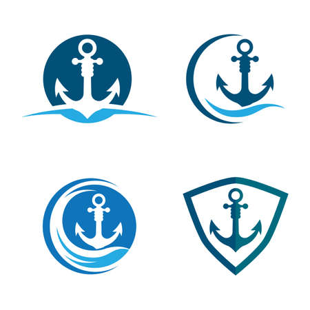Anchor logo images illustration design
