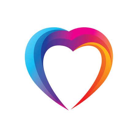 Love logo images illustration design Иллюстрация