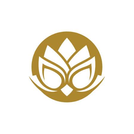Beauty lotus logo images illustration design
