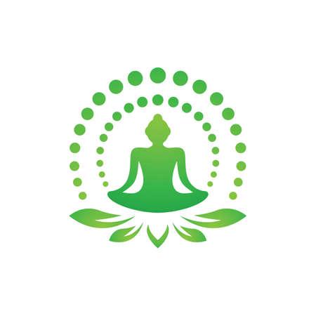 Yoga logo images illustration design Иллюстрация