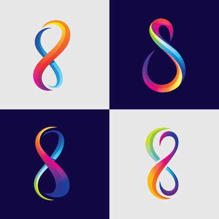 Infinity logo images illustration design