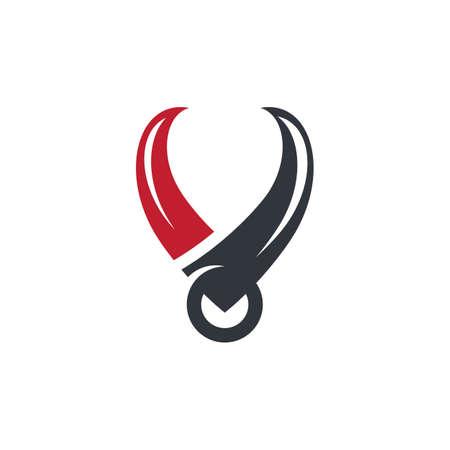 Bull horn logo images illustration