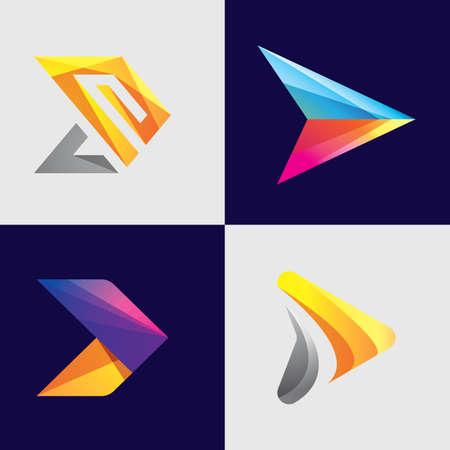 Arrow logo images illustration design