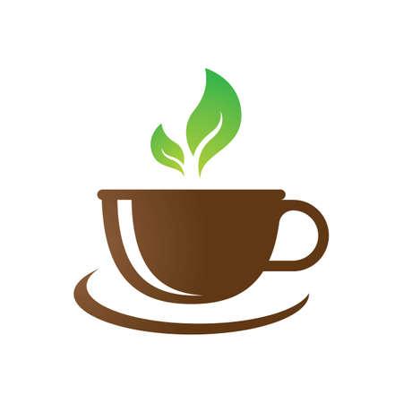 Tea cup logo images illustration design Иллюстрация