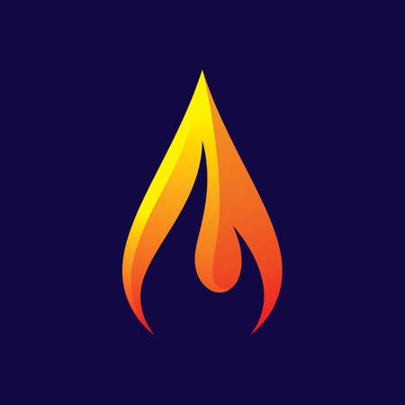 Fire logo images  illustration design