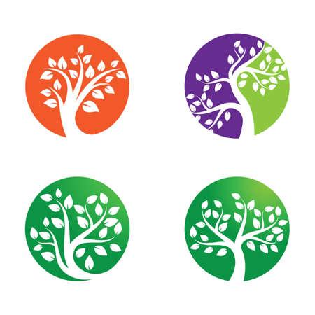 Tree logo images design illustration