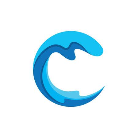 Water wave logo images illustration design
