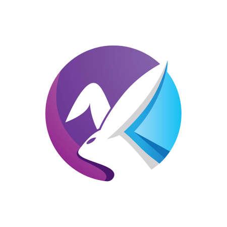 Rabbit logo images  illustration design