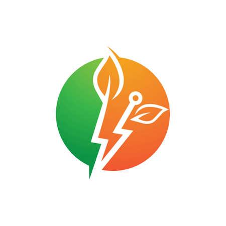 Eco energy logo images illustration design Ilustração