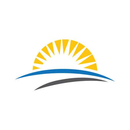 Sunset logo images illustration design