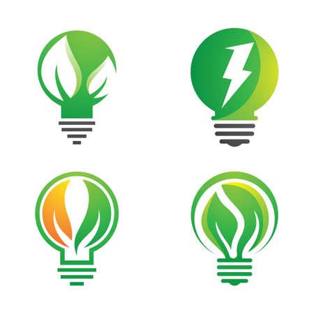 Eco energy logo images illustration design  イラスト・ベクター素材