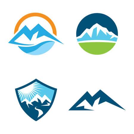 Mountain logo images illustration design