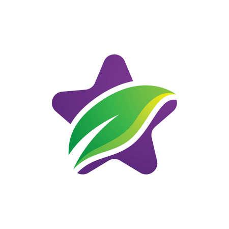 Star leaf logo images illustration design 일러스트