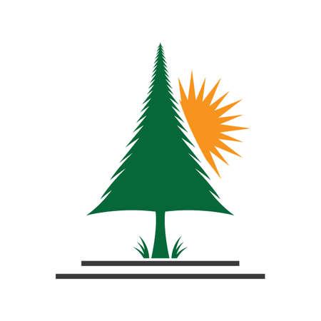 Pine tree  images illustration design