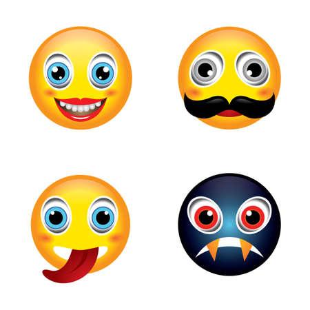mustache emoticon image illustration design