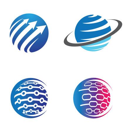 Globe logo images illustration design