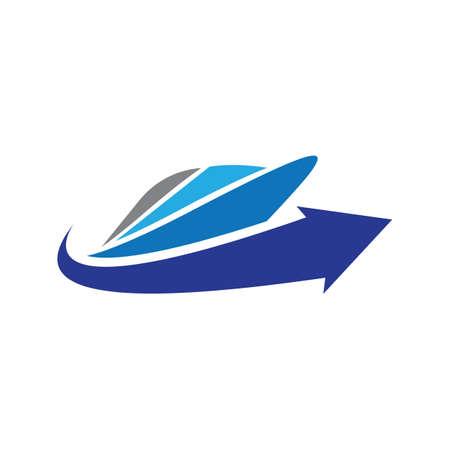 Cruise ship logo images  illustration design 일러스트