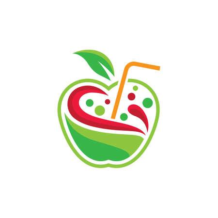 Fresh juice logo images illustration design