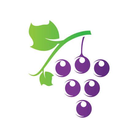 Grape logo images  illustration design