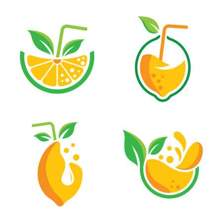 Lemon logo images illustration design Illustration
