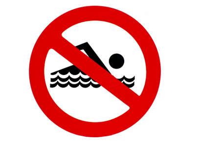 no swimming sign: no swimming
