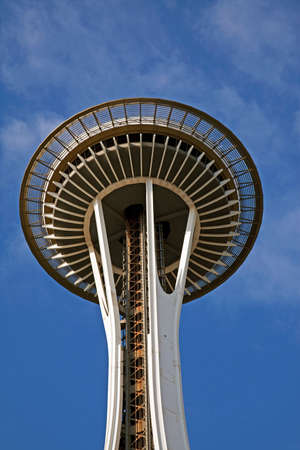 space needle: Detail of the Seattle Space Needle Editorial