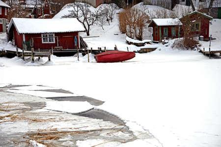 sweden winter: Winter in Sweden Stock Photo