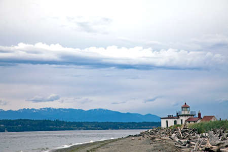 puget sound: Lighthouse at the Puget Sound, United States