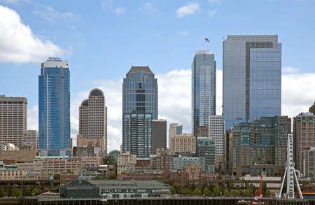 highriser: Skyline of Seattle, Washington state, USA Editorial
