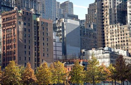 highriser: Downtown Manhattan Stock Photo