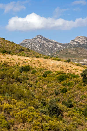 alpujarra: Mountains in the spanish Alpujarra region Stock Photo