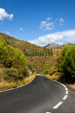 mountainous: Road in the mountainous regions of Andalusia, Spain