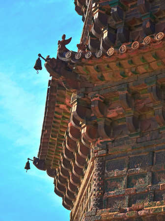 song dynasty: Local details of the tower in Kaifeng, China Stock Photo