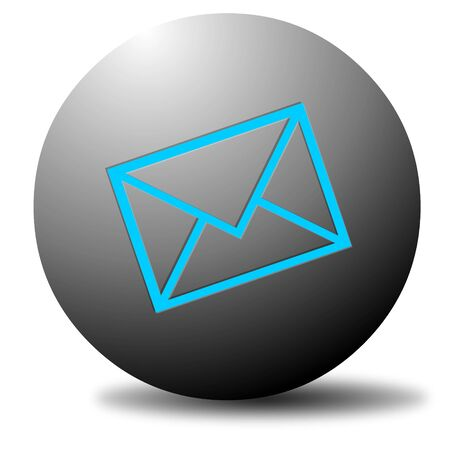 Colored email icon for use as a contact button Stock Photo - 3538780