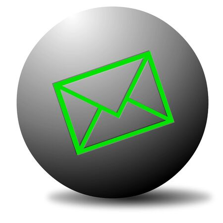 Colored email icon for use as a contact button Stock Photo - 3538778
