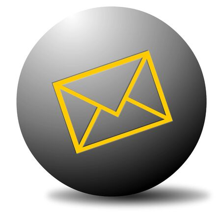 webmail: Colored email icon for use as a contact button