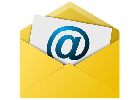 Colored email icon for use as a contact button