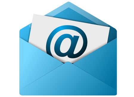 email contact: Colored email icon for use as a contact button