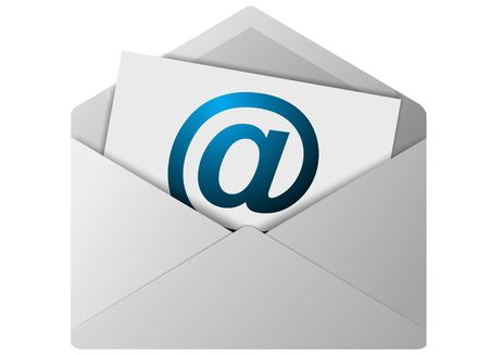 email contact: Email icon for use as a contact button Stock Photo